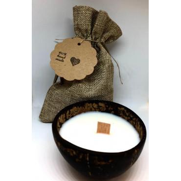 Svíčka kokosová miska - vanilka